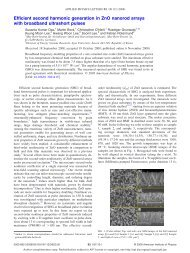 Efficient second harmonic generation in ZnO ... - ResearchGate