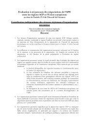 Evaluation à mi parcours des négociations de l'APE entre les ... - CSA