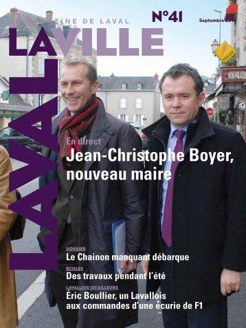 Jean-Christophe Boyer, nouveau maire - Laval