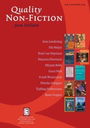 Quality Non-Fiction from Holland 2004 - Nederlands Letterenfonds