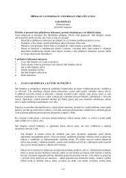 INFORMACE PRO UŽIVATELE SAB SIMPLEX - Pfizer