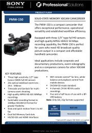 pmw-150 specifications - PROTEL New Zealand