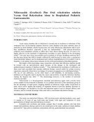 Efficacy of a New Hypotonic Oral Rehydration Solution