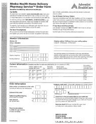 Medco Health Home Delivery Pharmacy ServiceTM Order Form