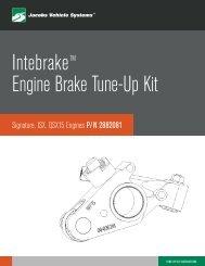 IntebrakeTM Engine Brake Tune-Up Kit - Jacobs Vehicle Systems