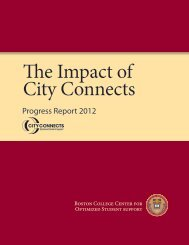 The Impact of City Connects: Progress Report 2012 - Boston College