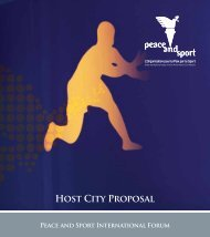 HOSt City PROPOSAl - Peace and Sport
