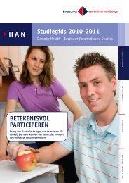 Studiegids 2010-2011 BETEKENISVOL PARTICIPEREN