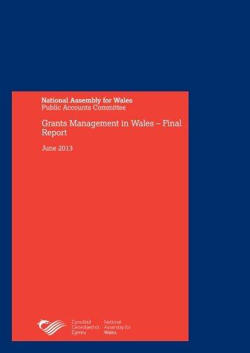 Grants Management in Wales- Final Report - Senedd ...