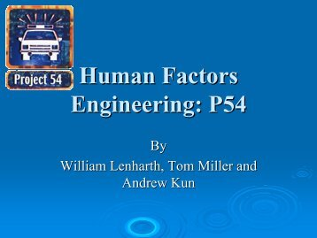Human Factors Engineering: P54
