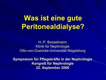 Bosselmann - Was ist eine gute PD - WB-nephro.de