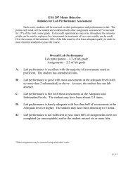Rubrics for Lab Report Assessment