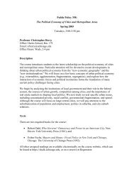 Political Economy of Cities and Metropolitan Areas - Local ...