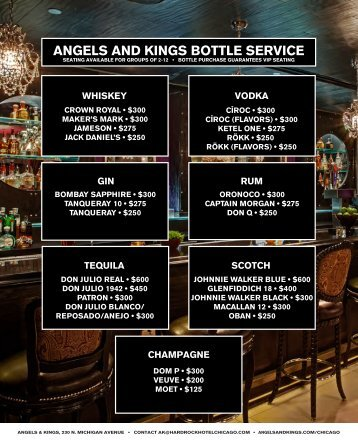 angels and kings party packages - Hard Rock Hotel Chicago