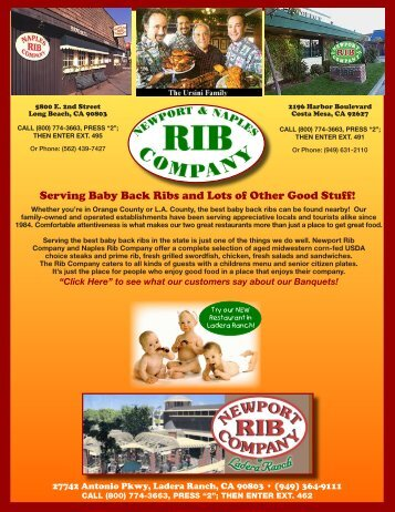 Serving Baby Back Ribs and Lots of Other Good Stuff! - Your ...