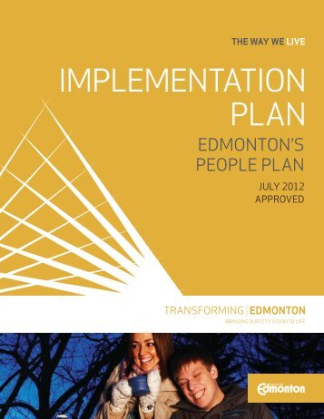 The Way We Live: Edmonton's People Plan ... - City of Edmonton