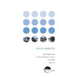 Transit Service plan - City of Union City