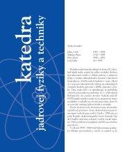 Kapitola z knihy Od žiarovky po internet - Katedra jadrovej fyziky a ...