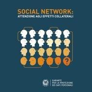 Opuscolo Social Network pagina singola - Garante per la protezione ...