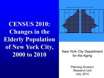 Changes in the Elderly Population of New York City, 2000 to 2010