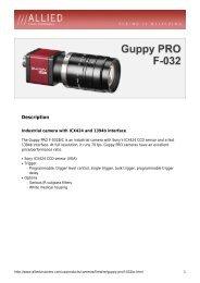 Guppy PRO F-032 Datasheet - RMA Electronics