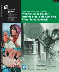Willingness to Pay for Arsenic-Free, Safe Drinking Water in ... - WSP