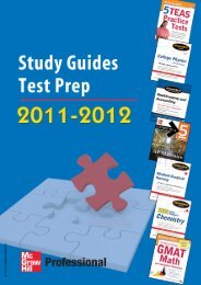 Study Guides and Test Prep 2011-2012 - McGraw-Hill Books