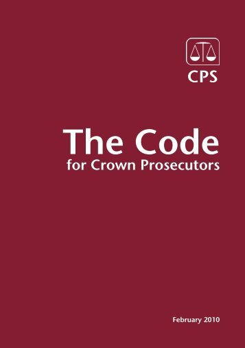 Code for Crown Prosecutors - Skadden
