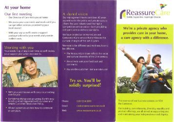 Reassure Care - Age UK Camden