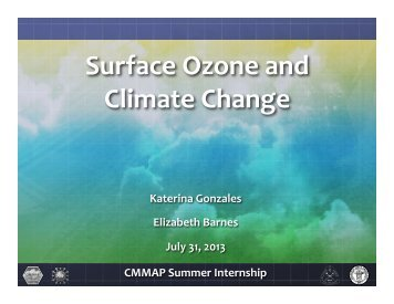 Surface Ozone and Climate Change - cmmap