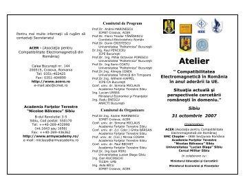 Atelier - ACER-Asociatia pentru Compatibilitate Electromagnetica ...