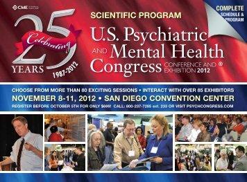 SCIENTIFIC Program - US Psychiatric and Mental Health Congress