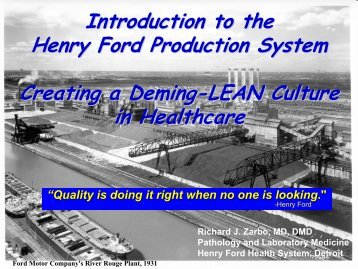 Lean - Henry Ford Health System