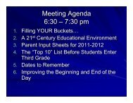 Introduction to Third Grade - West Lafayette Community School ...