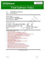 5100 - Software Version 1.10 Release - EFJohnson