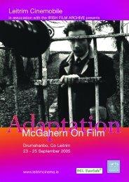 McGahern On Film - Irish Film Institute