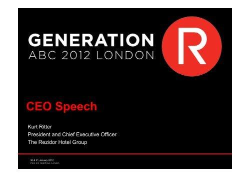 CEO Speech - Carlson