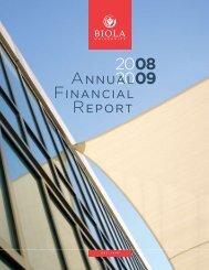 ANNUAL FINANCIAL REPORT - Biola University