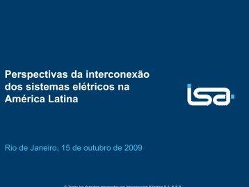 Perspectivas da interconexão dos sistemas elétricos na América ...