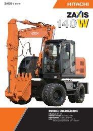 Brochure ZAXIS 140W-3 - Hitachi Construction Machinery