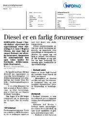 Diesel er en farlig forurenser Infopaq Norge AS