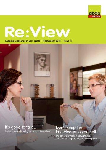 ReView September 2012 - ABDO College