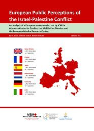 1 European Public Perceptions of the Israel-Palestine Conflict