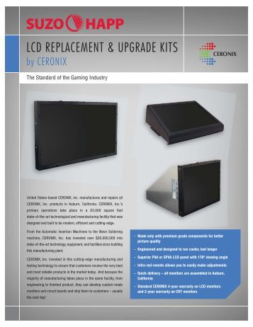 LCD REPLACEMENT & UPGRADE KITS - Suzo-Happ