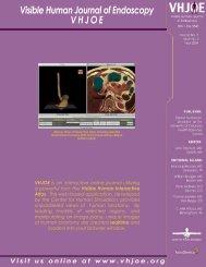 VHJOE Issue 3 - Visible Human Journal of Endoscopy