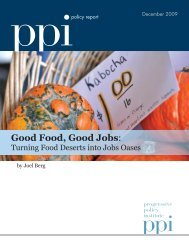 Good Food, Good Jobs: - Progressive Policy Institute