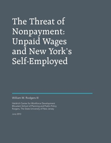 Unpaid Wages and New York's Self-Employed