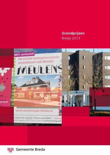 Grondprijzen Breda 2013 - Gemeente Breda