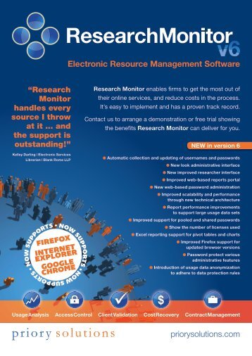 Electronic Resource Management Software - Priory Solutions