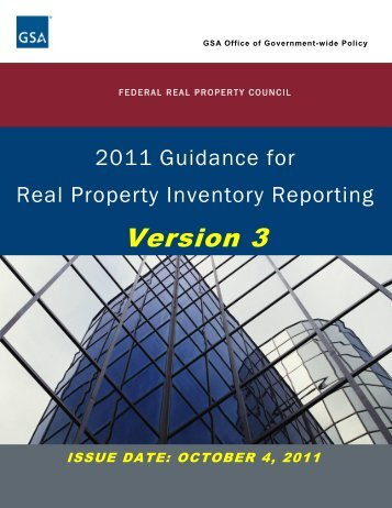 Real Property Inventory Reporting - GSA